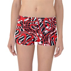 Ribbon Chaos Red Reversible Boyleg Bikini Bottoms