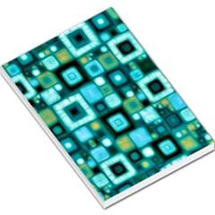 Teal Squares Large Memo Pads