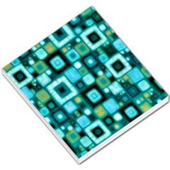 Teal Squares Small Memo Pads