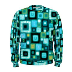 Teal Squares Men s Sweatshirts