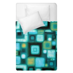 Teal Squares Duvet Cover (single Size)