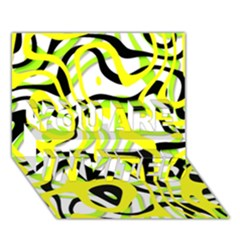 Ribbon Chaos Yellow YOU ARE INVITED 3D Greeting Card (7x5)