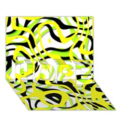 Ribbon Chaos Yellow Hope 3d Greeting Card (7x5)