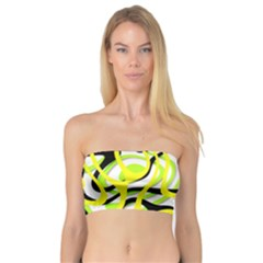 Ribbon Chaos Yellow Women s Bandeau Tops