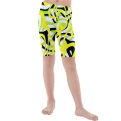 Ribbon Chaos Yellow Kid s Swimwear
