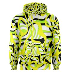 Ribbon Chaos Yellow Men s Pullover Hoodies