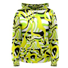Ribbon Chaos Yellow Women s Pullover Hoodies