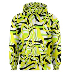 Ribbon Chaos Yellow Men s Zipper Hoodies