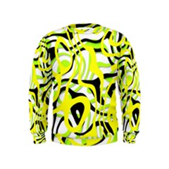 Ribbon Chaos Yellow Boys  Sweatshirts