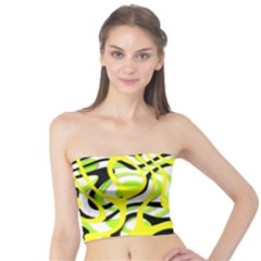 Ribbon Chaos Yellow Women s Tube Tops