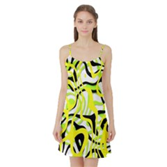Ribbon Chaos Yellow Satin Night Slip