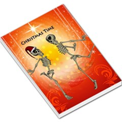 Dancing For Christmas, Funny Skeletons Large Memo Pads