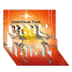 Dancing For Christmas, Funny Skeletons You Did It 3d Greeting Card (7x5)