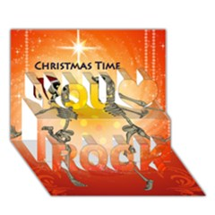 Dancing For Christmas, Funny Skeletons You Rock 3d Greeting Card (7x5)