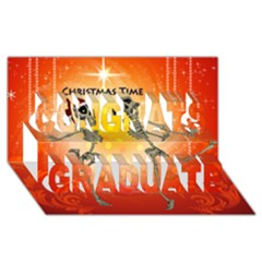 Dancing For Christmas, Funny Skeletons Congrats Graduate 3d Greeting Card (8x4)