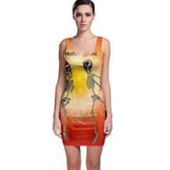Dancing For Christmas, Funny Skeletons Bodycon Dresses
