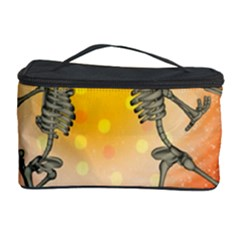 Dancing For Christmas, Funny Skeletons Cosmetic Storage Cases