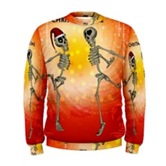 Dancing For Christmas, Funny Skeletons Men s Sweatshirts