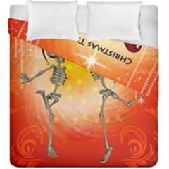 Dancing For Christmas, Funny Skeletons Duvet Cover (king Size)