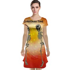 Dancing For Christmas, Funny Skeletons Cap Sleeve Nightdresses