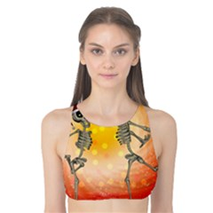 Dancing For Christmas, Funny Skeletons Tank Bikini Top