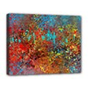 Abstract in Red, Turquoise, and Yellow Canvas 14  x 11  View1