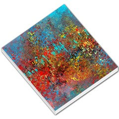 Abstract In Red, Turquoise, And Yellow Small Memo Pads