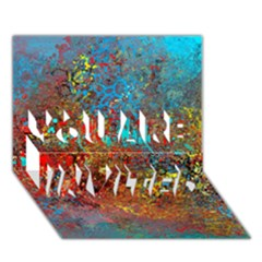 Abstract in Red, Turquoise, and Yellow YOU ARE INVITED 3D Greeting Card (7x5)
