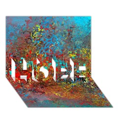 Abstract In Red, Turquoise, And Yellow Hope 3d Greeting Card (7x5)