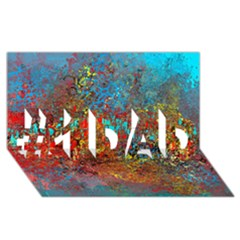 Abstract In Red, Turquoise, And Yellow #1 Dad 3d Greeting Card (8x4)