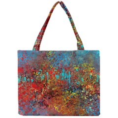 Abstract In Red, Turquoise, And Yellow Tiny Tote Bags