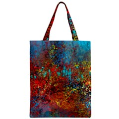 Abstract in Red, Turquoise, and Yellow Classic Tote Bags