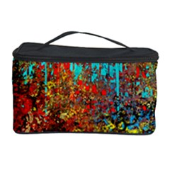 Abstract In Red, Turquoise, And Yellow Cosmetic Storage Cases