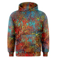 Abstract in Red, Turquoise, and Yellow Men s Pullover Hoodies