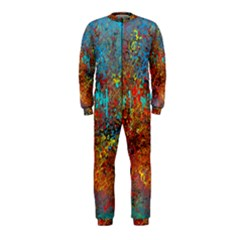 Abstract in Red, Turquoise, and Yellow OnePiece Jumpsuit (Kids)