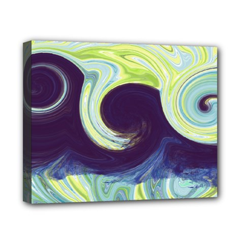 Abstract Ocean Waves Canvas 10  x 8