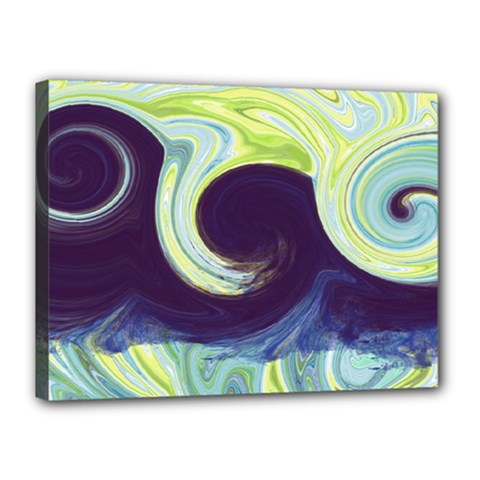 Abstract Ocean Waves Canvas 16  x 12