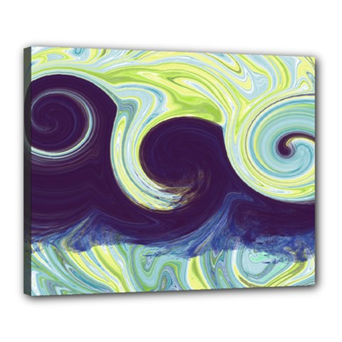 Abstract Ocean Waves Canvas 20  X 16