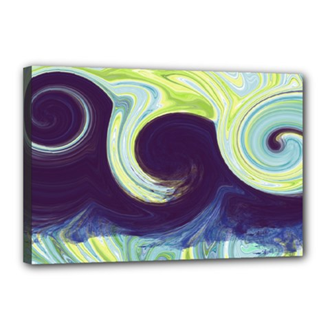 Abstract Ocean Waves Canvas 18  x 12