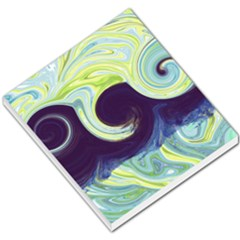 Abstract Ocean Waves Small Memo Pads