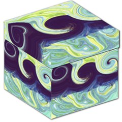 Abstract Ocean Waves Storage Stool 12