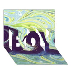 Abstract Ocean Waves BOY 3D Greeting Card (7x5)