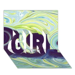 Abstract Ocean Waves GIRL 3D Greeting Card (7x5)