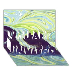 Abstract Ocean Waves You Are Invited 3d Greeting Card (7x5)