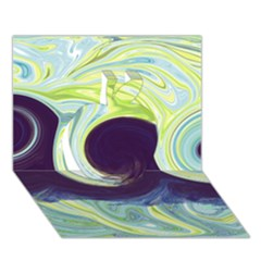 Abstract Ocean Waves Apple 3D Greeting Card (7x5)