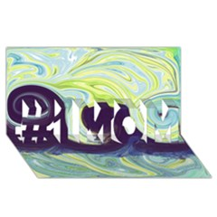 Abstract Ocean Waves #1 MOM 3D Greeting Cards (8x4)