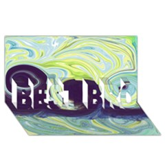 Abstract Ocean Waves BEST BRO 3D Greeting Card (8x4)