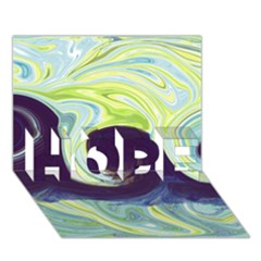 Abstract Ocean Waves HOPE 3D Greeting Card (7x5)