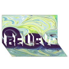Abstract Ocean Waves Believe 3d Greeting Card (8x4)