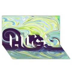 Abstract Ocean Waves HUGS 3D Greeting Card (8x4)